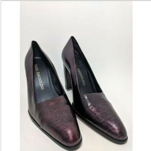 Enzo Angiolini Dalfino Dark Purple/Maroon Leather